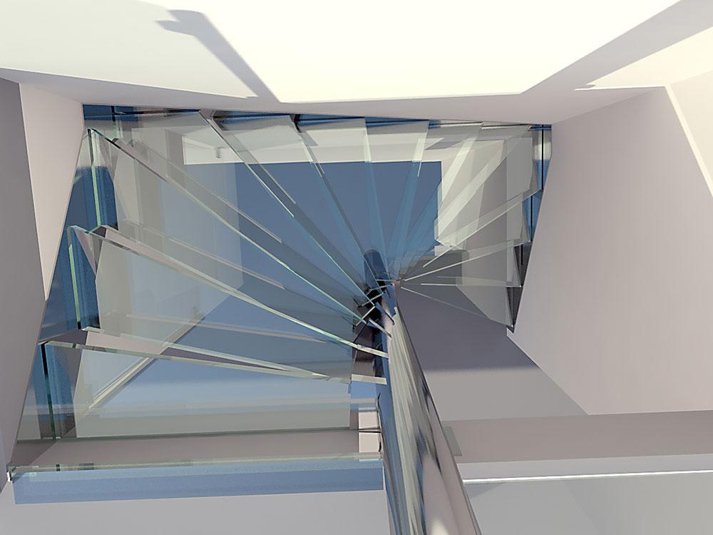 Glazen trap van glas treden design ontwerpen 2 dutch - Trap ontwerpen ...