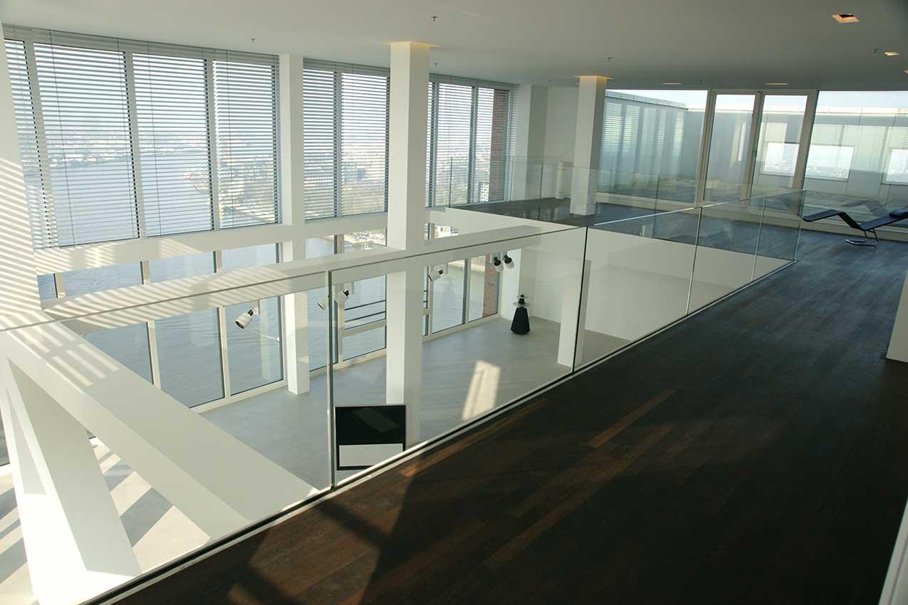 woning interieurglas Rotterdam