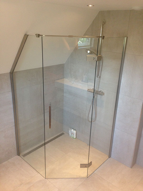 Glass shower door - Dutch Glass Design