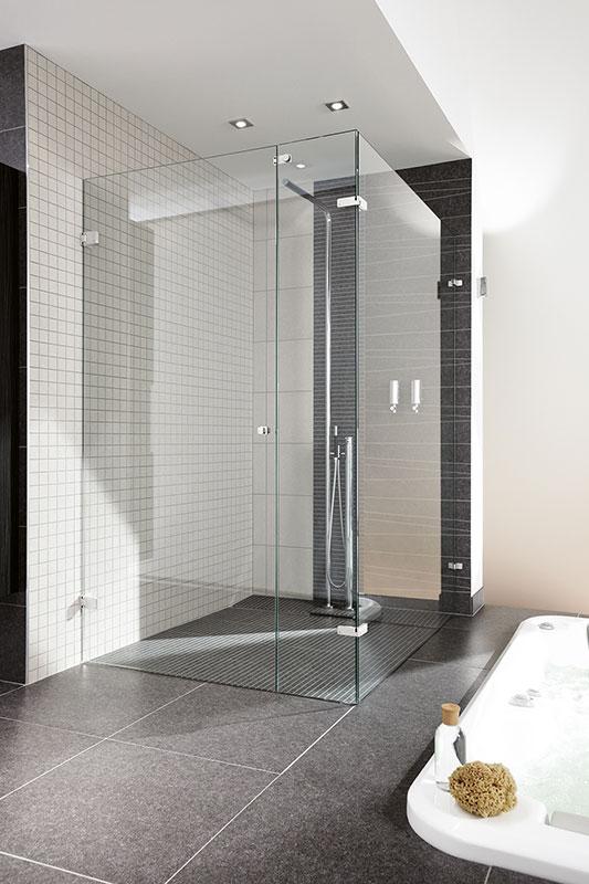 Glass shower door - Dutch Glass Design