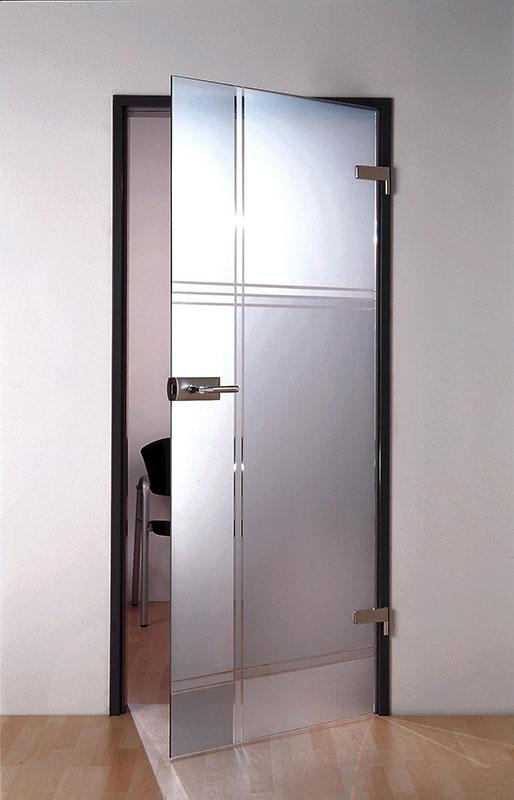 A glass door in your trendy living room.