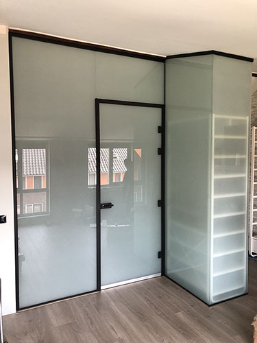 Stylish Glass Door In Aluminum Frame Design Wherever You